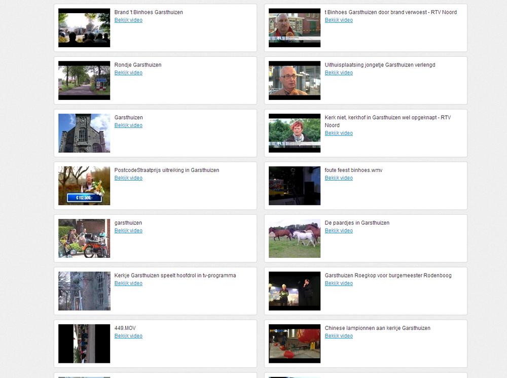 video's over Garsthuizen