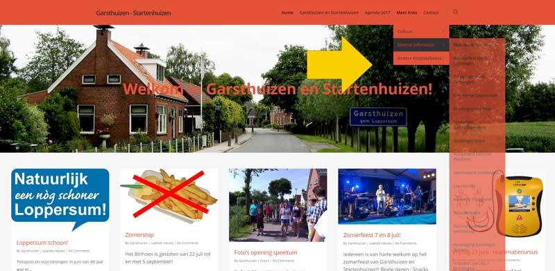 Leuke links op de website van Garsthuizen en Startenhuizen