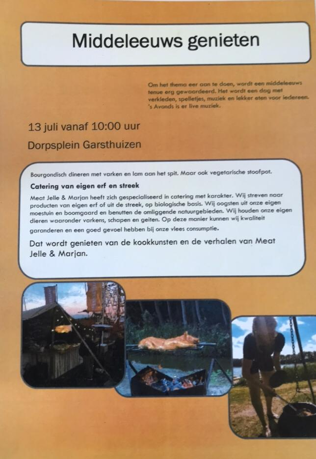Poster zomerfeest Garsthuizen 2019