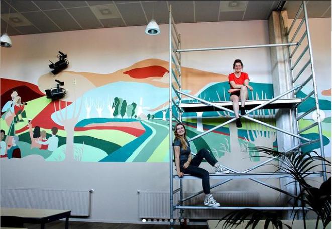 muurschildering binhoes